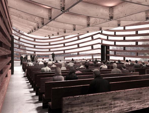 El proyecto se llevará a cabo lo antes posible y de manera rápida gracias a las empresas locales que se dedican a la madera, material con el que se fabricará la iglesia