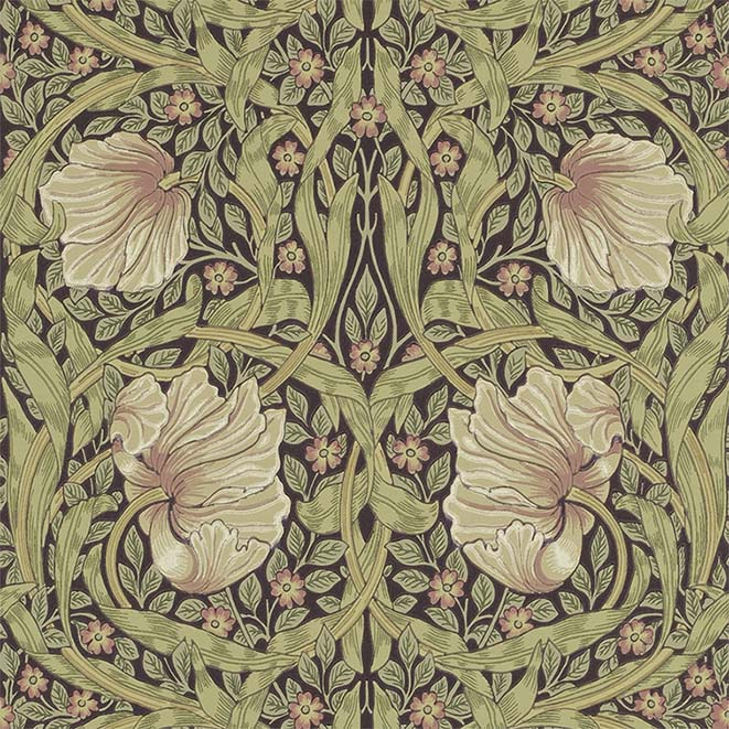 Diseño de papel pintado Pimpernel (William Morris, 1876)
