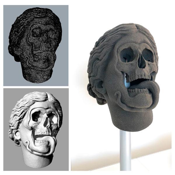 Obra perteneciente a la serie 'Skull-Ptures' del artista alemán Hedi Xandt